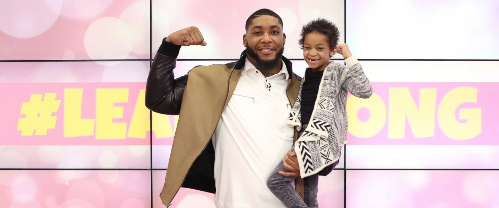 """PHOTO: Leah Still, 5-year-old daughter of Houston Texans defensive tackle Devon Still, has officially """"beaten cancer."""""""
