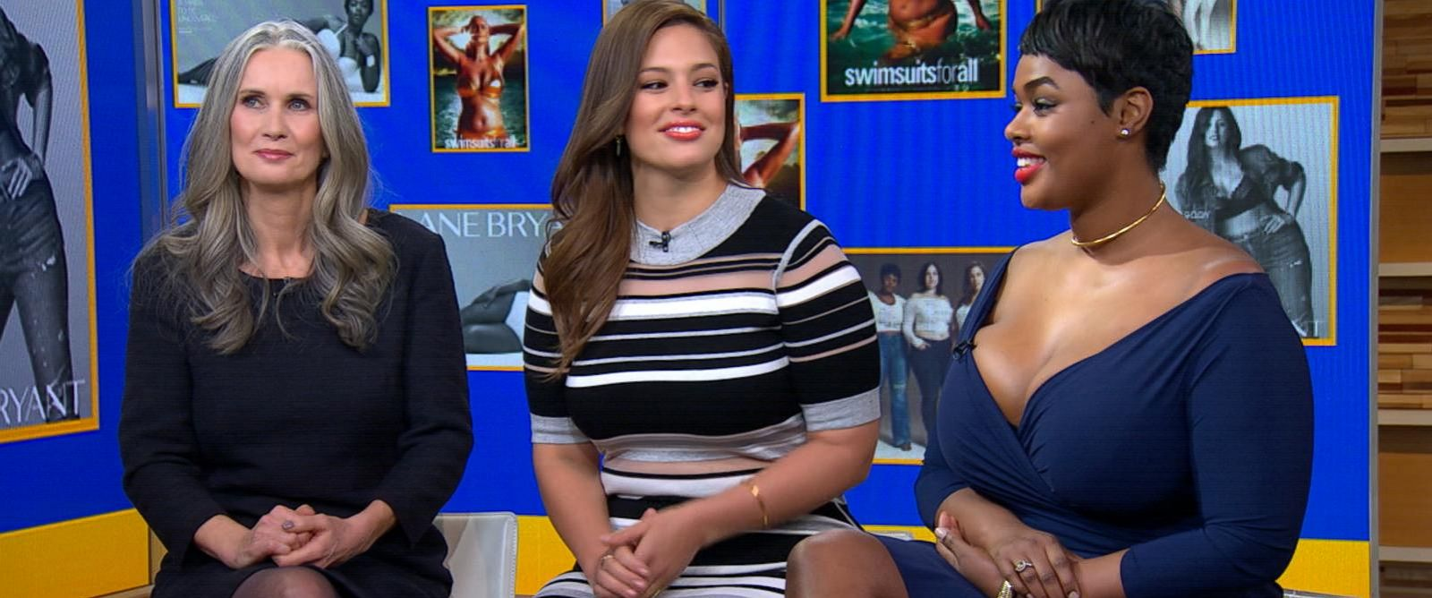 """PHOTO:Models Ashley Graham, Nicola Griffin and Precious Lee discussed their barrier-breaking appearances in Sports Illustrateds annual Swimsuit Issue on """"Good Morning America."""""""