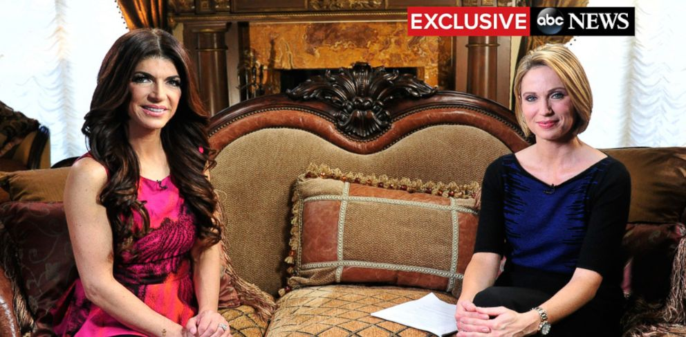 PHOTO: Reality star Teresa Giudice, recently released from prison and serving an ongoing house arrest, talks to Amy Robach from her New Jersey home on Good Morning America. The interview is scheduled to air on Feb. 9, 2016.