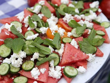 PHOTO: Watermelon Tomato Salad With Feta and Mint