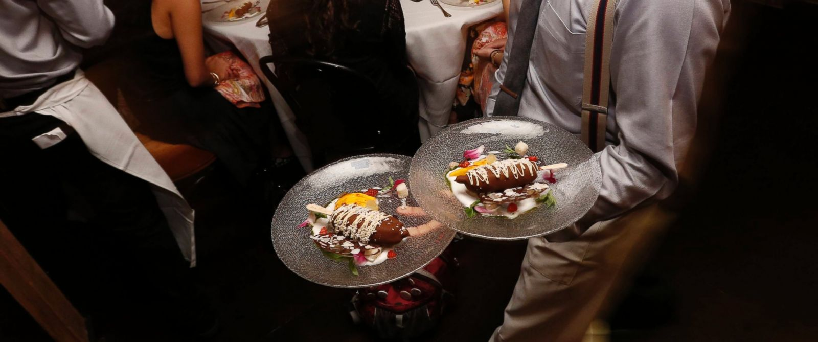 PHOTO: Magnum being served to fashion and food influencers.