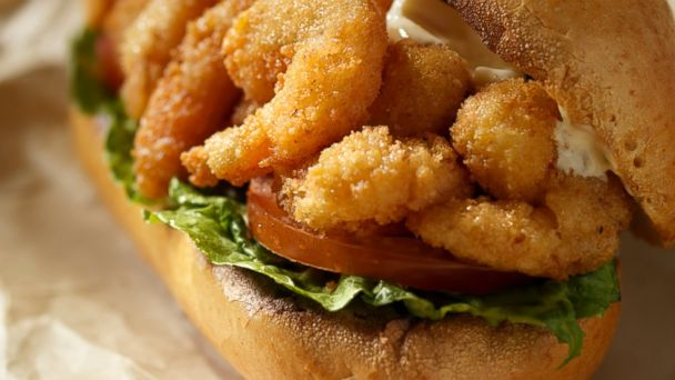 PHOTO: Shrimp Po Boy Sandwich, a traditional New Orleans dish, is pictured here.