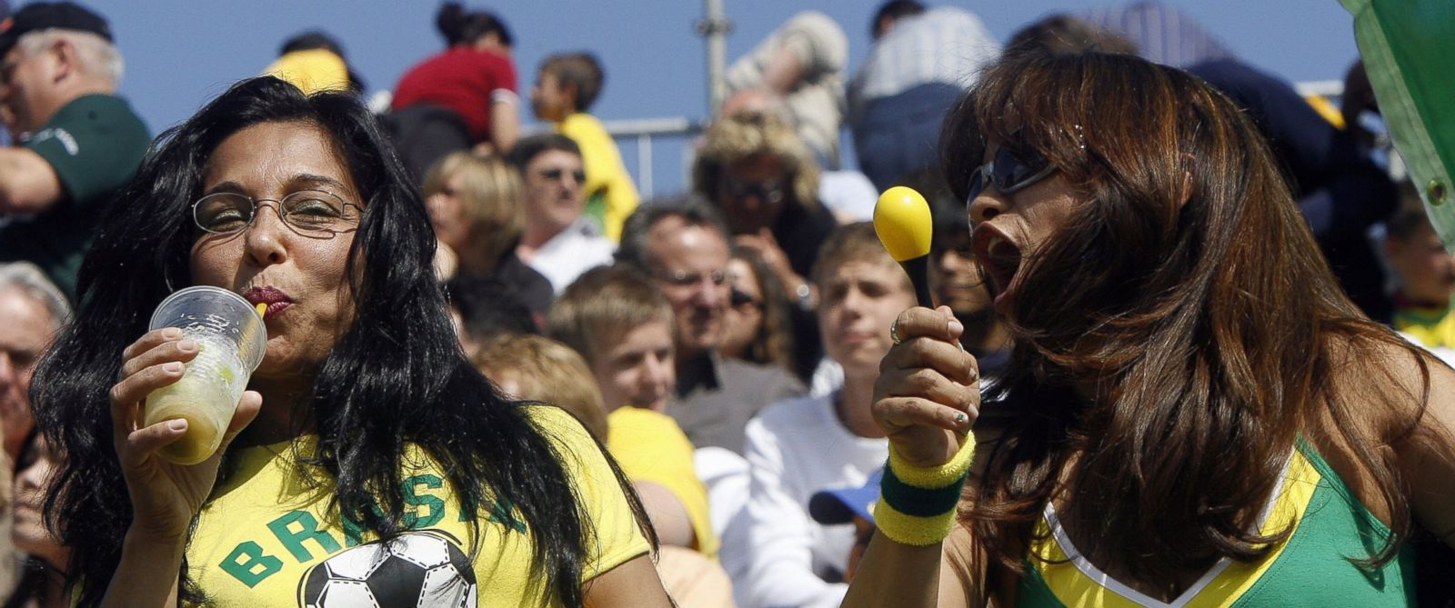 PHOTO: A Brazilian football fan enjoys a Caipirinha