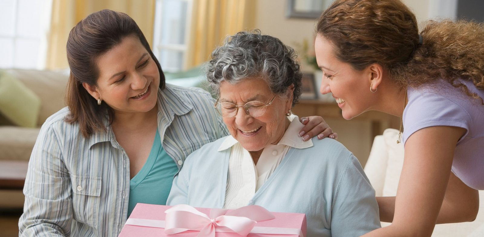 "PHOTO: ""Grandma Showers"" celebrate the increasing role a grandmother-to-be will have in their grandchilds life."
