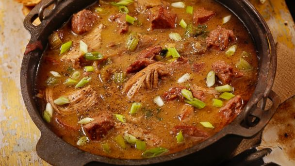 PHOTO: Chicken and Sausage Gumbo, a traditional New Orleans dish, is pictured here.