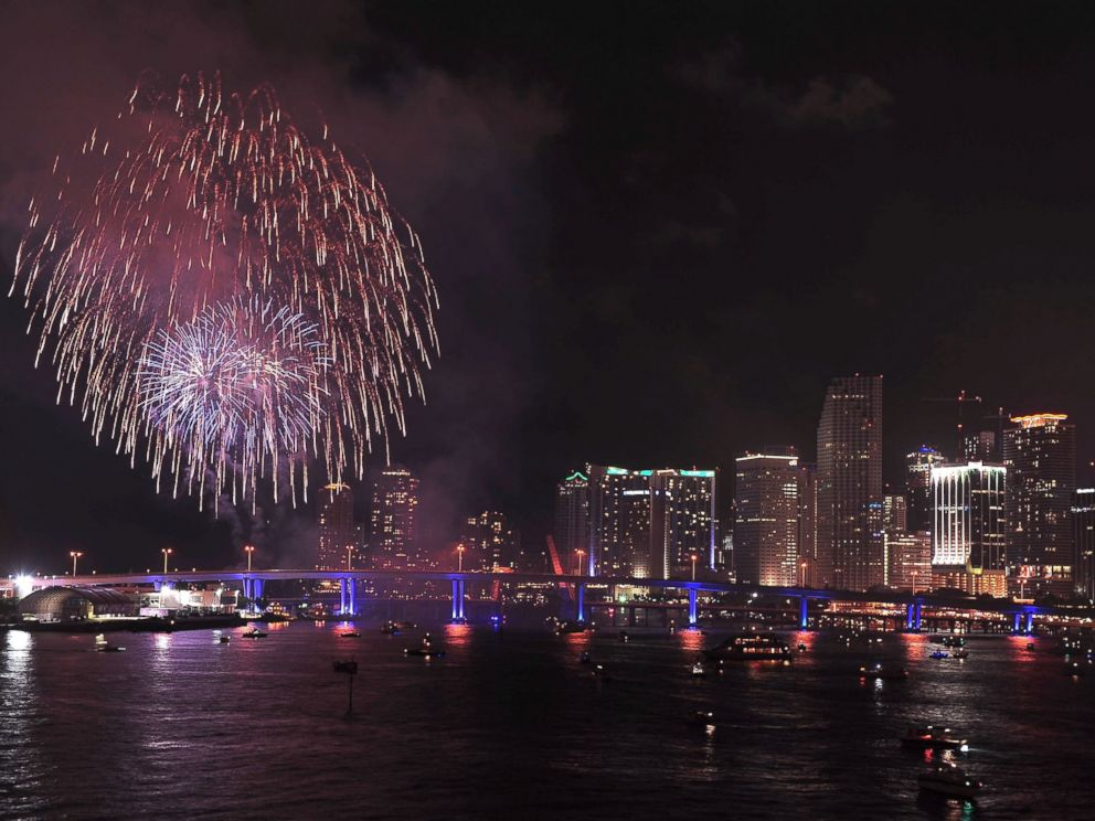 PHOTO: Fireworks are displayed for Independence Day in this July 4, 2009, file photo in Miami, Florida.