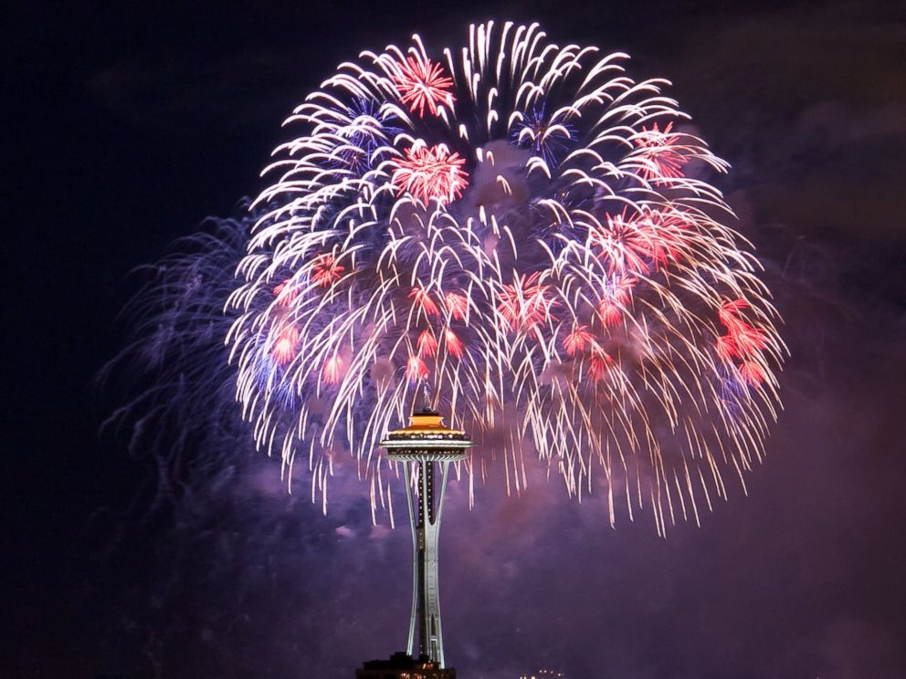 PHOTO: Fireworks are displayed for Independence Day in this July 4, 2012, file photo in Seattle, Wash.