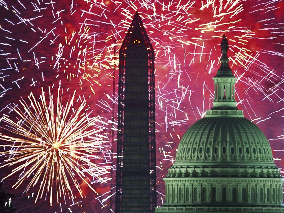 PHOTO: Fourth of July, US Independence Day fireworks are seen over the US Capitol and National Monument in Washington, DC in this July 4, 2013, file photo.