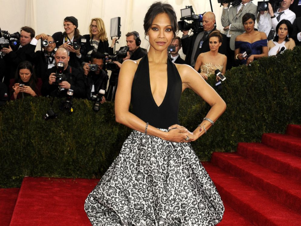 PHOTO: Zoe Saldana attends the Charles James: Beyond Fashion Costume Institute Gala at the Metropolitan Museum of Art, May 5, 2014, New York.