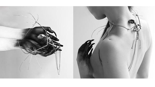 PHOTO:Bat Skeleton Necklace