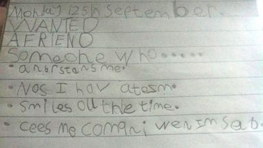PHOTO: 7-year-old Molly-Raine Adams, who has autism, was asked to list what qualities a friend should have.