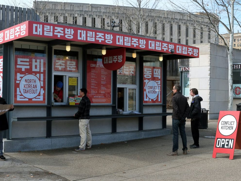 PHOTO: Conflict Kitchen during its phase on North Korea.
