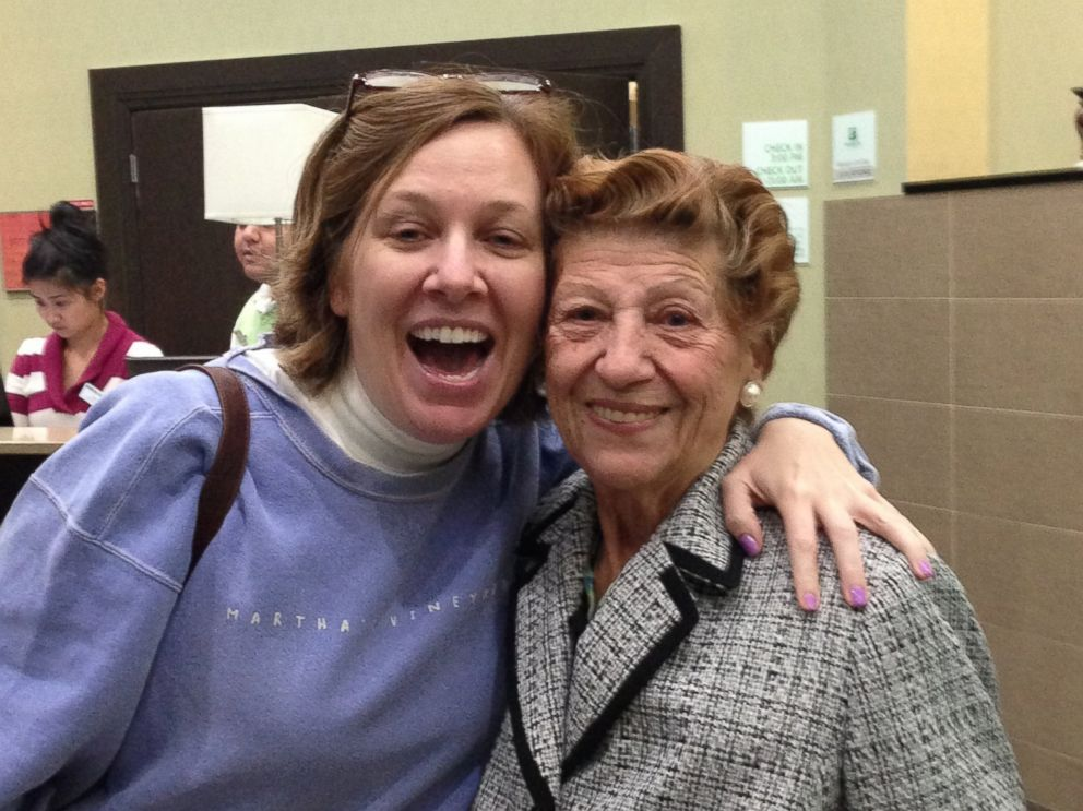 PHOTO: Levy pictured with Maryann Ford, who spent the night looking for the 88 year-old woman.