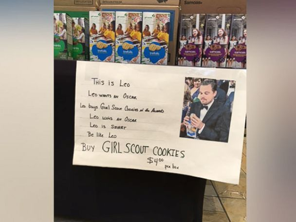 nyc girl scout troop uses leonardo dicaprio inspired