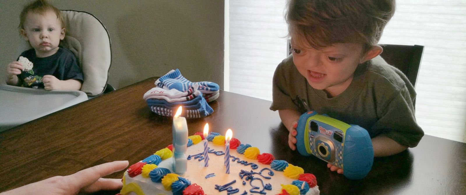 PHOTO: Jameson Meyer photographed on his third birthday on Jan. 7, 2015.
