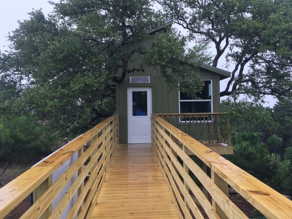 PHOTO: The treehouse that was built for seven year-old Hayden Trigg thanks to the Make-A-Wish Foundation.