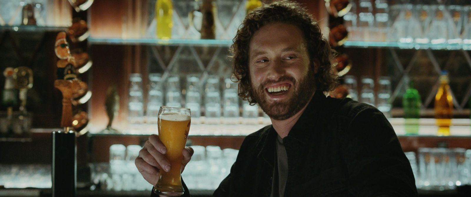 PHOTO: Actor T.J. Miller appears in Shock Tops commercial for Super Bowl 2016.