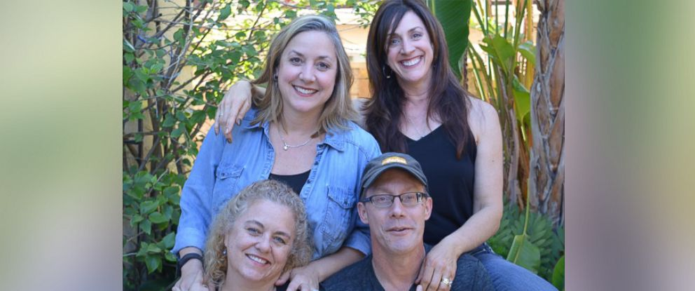PHOTO:Jacqui Ochoa, 50, (bottom left) of Huntington Beach, California, reunited with her siblings Eric Conger, 53, (bottom right), Katrina Faulkner, 46, (top left) and Victoria Costa, 52, (top right) on Feb. 21.