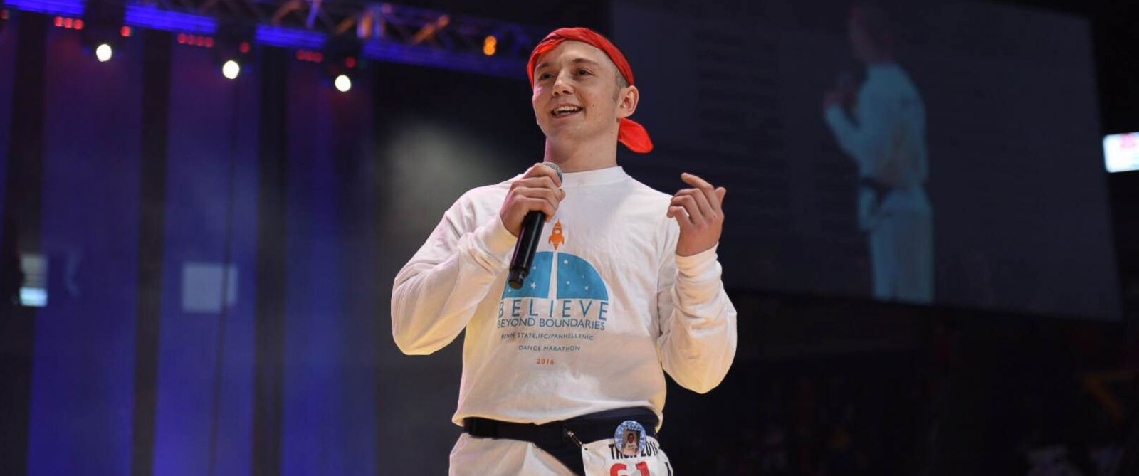 PHOTO: Cancer survivor Brady Lucas is now giving back to Penn State Universitys THON, the same fundraising campaign that helped him pay for medical bills as a child.