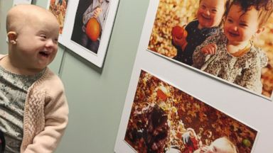 PHOTO: Celia Furtado was thrilled to see a photo of herself at a gallery event for Down Syndrome Awareness Month.