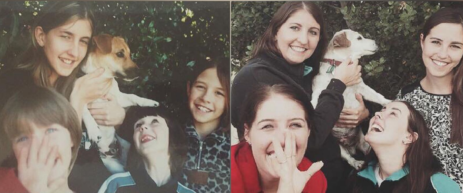 PHOTO: Four sisters from Adelaide, Australia, recreated a childhood photo with their beloved dog, Tigger, before he passed away.
