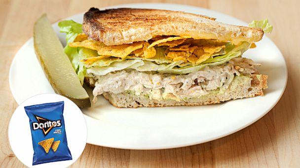 PHOTO: Cool Ranch Doritos are hidden inside this chicken salad sandwich