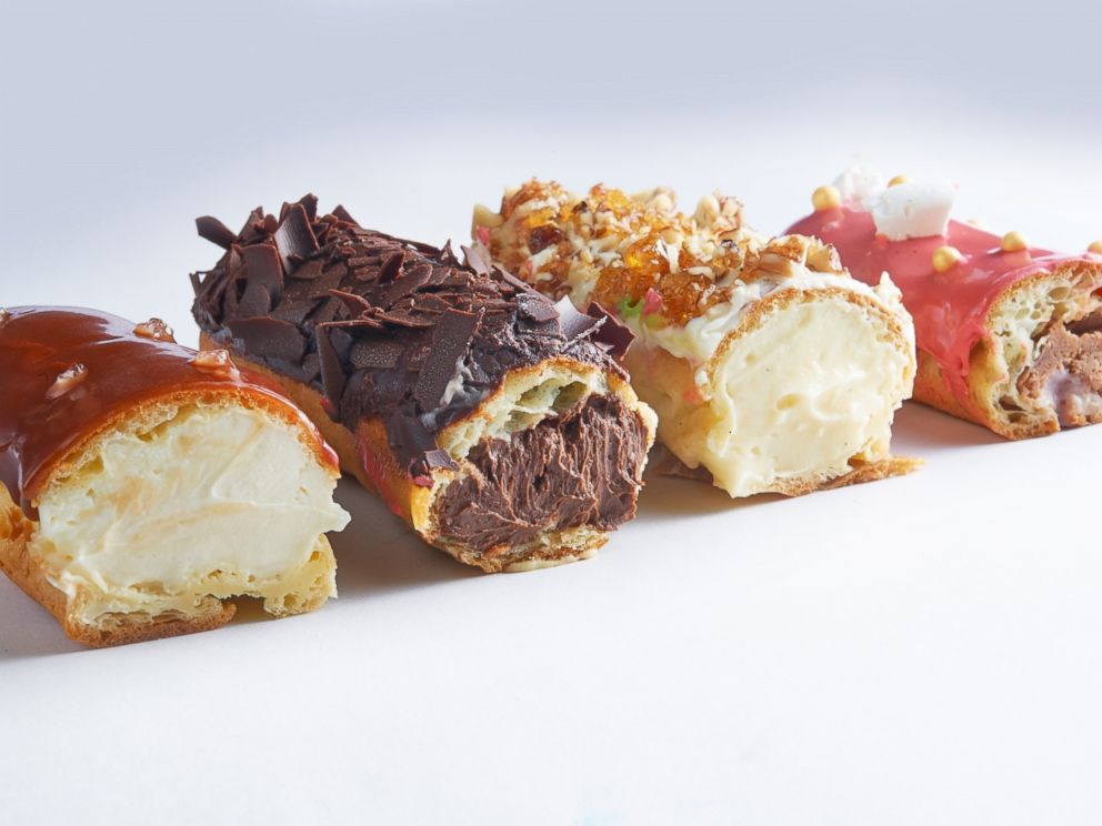 PHOTO: A look inside some recent eclair fillings.