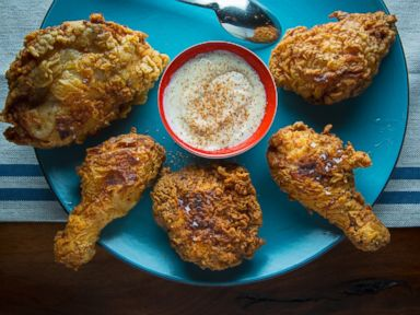 PHOTO: Eggnog fried chicken.