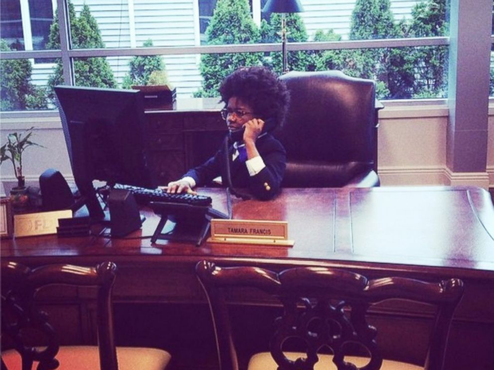 PHOTO: Mr. Cory hard at work running his company.