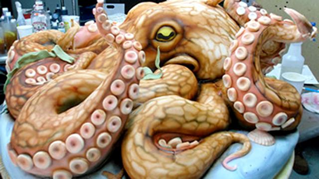 PHOTO:Giant Octopus Cake | Highland Bakery, Atlanta
