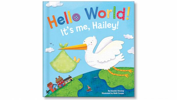 PHOTO: The new Hello World personalized childrens bool is a great way to get their baby off on the right foot with a book all about him or her.