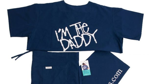PHOTO: Daddyscrubs are the perfect gift for the dad to be. $90.