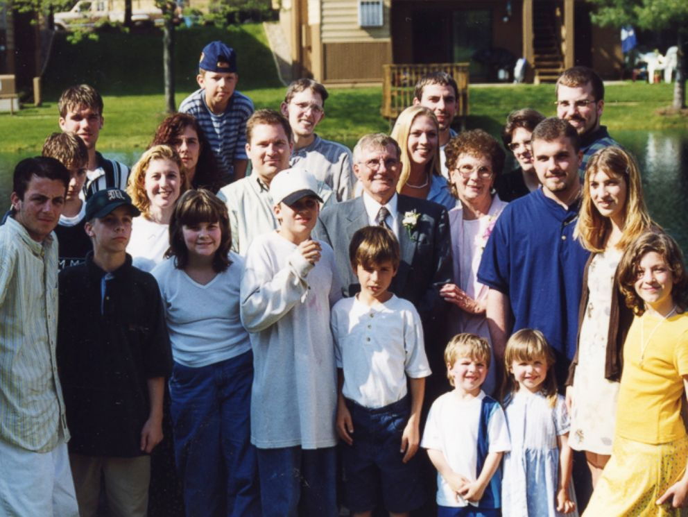 PHOTO: Shirley and Donald Keena photographed with just a handful of their 100 grandchildren.