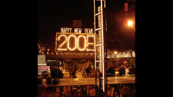 PHOTO: Lebanons 12 ft, 150 pound 2008 New Years Eve bologna drop.