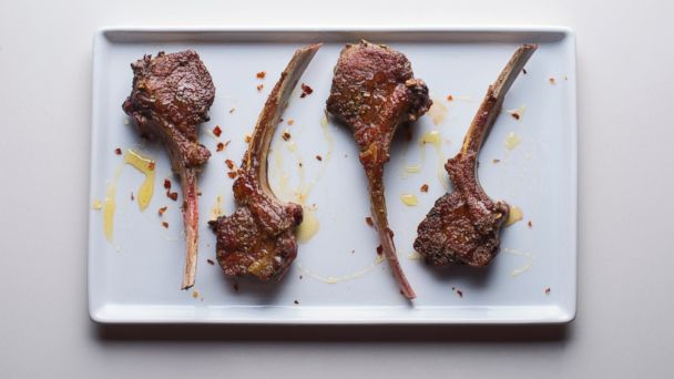 PHOTO: Tasting Tables Easter recipe for Lamb Chops with Lavender and Honey.