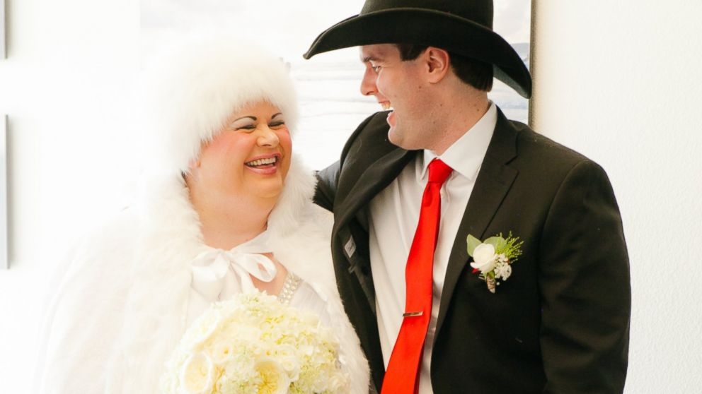 PHOTO:Anita Lesko and Abraham Nielsen, two adults on the autism spectrum, were married on Saturday.
