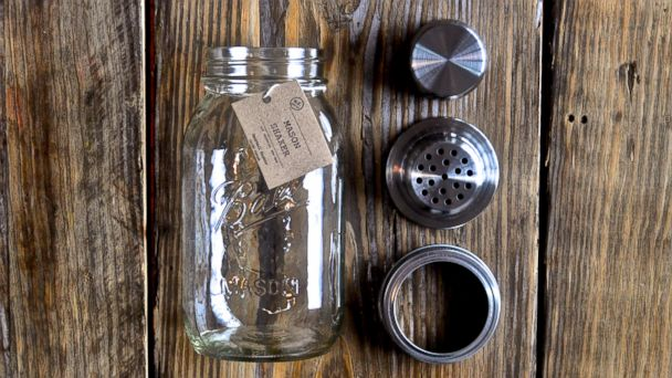 PHOTO: A mason jar cocktail shaker attachment.
