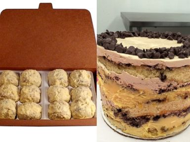 PHOTO: Milk Bars new chocolate chip cake, also in truffle form.