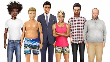 PHOTO: After noticing a demand for a diverse Ken doll from Twitter users, U.K. based E-Commerce website re-imagined Ken dolls to include different body types, skin tones, eye colors and hair textures.
