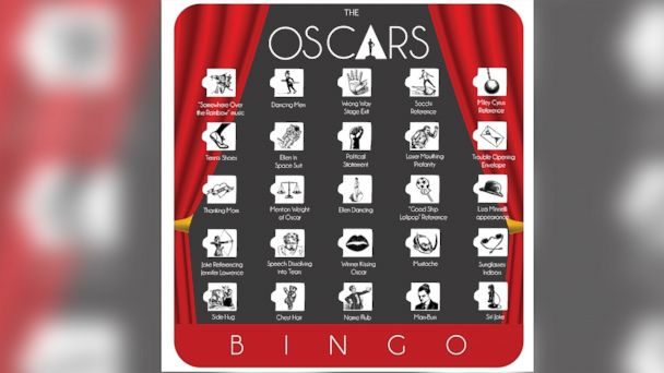 PHOTO: Play Oscars bingo at your viewing party this year.