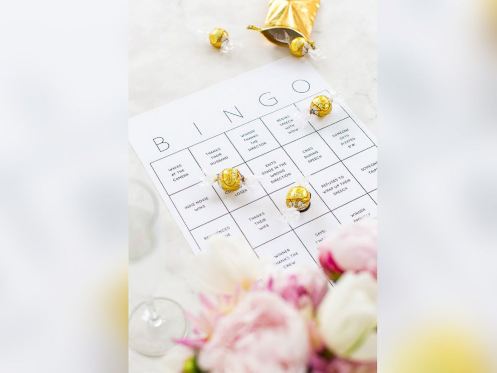 PHOTO: The Sugar & Cloth blog created a D-I-Y bingo card for the 2016 Oscars, pictured here.
