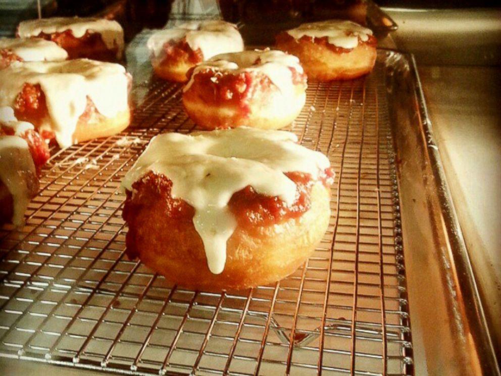 PHOTO: A pizza doughnut from Dough Exchange in Santa Ana, Calif.