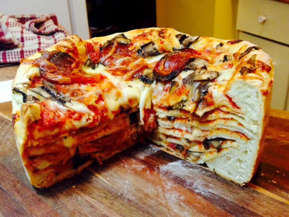 PHOTO: Pizza Birthday Cake