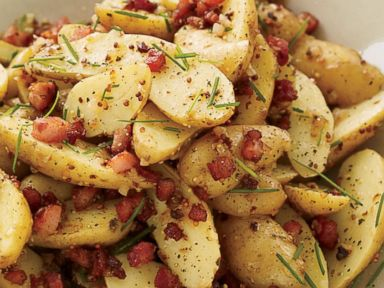 PHOTO: Food & Wines Memorial Day recipe for Warm Potato Salad with Pancetta and Brown Butter Dressing.