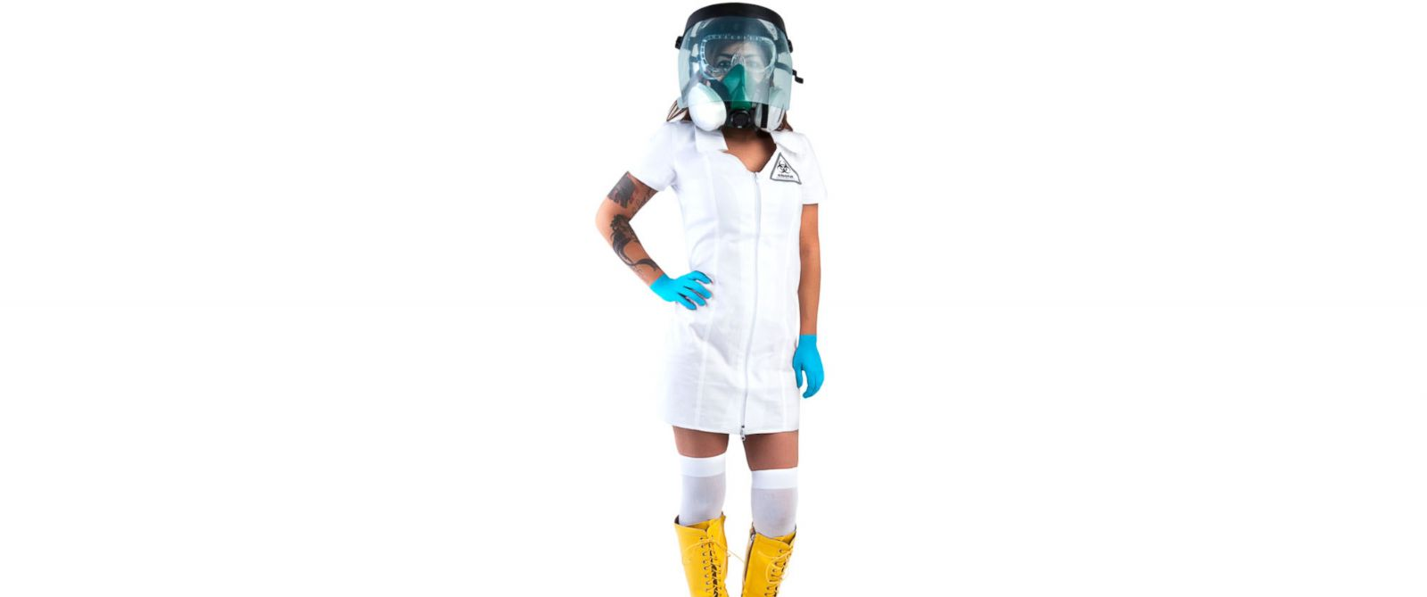 "PHOTO: The ""Sexy Ebola Containment Suit,"" available from Brands on Sale."