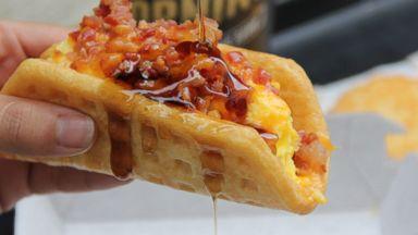 PHOTO: Taco Bells new waffle taco.