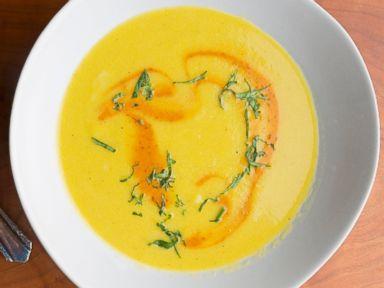 PHOTO: Tasting Tables Cinco de Mayo recipe for Mexican Corn Soup with Chipotle Crema.