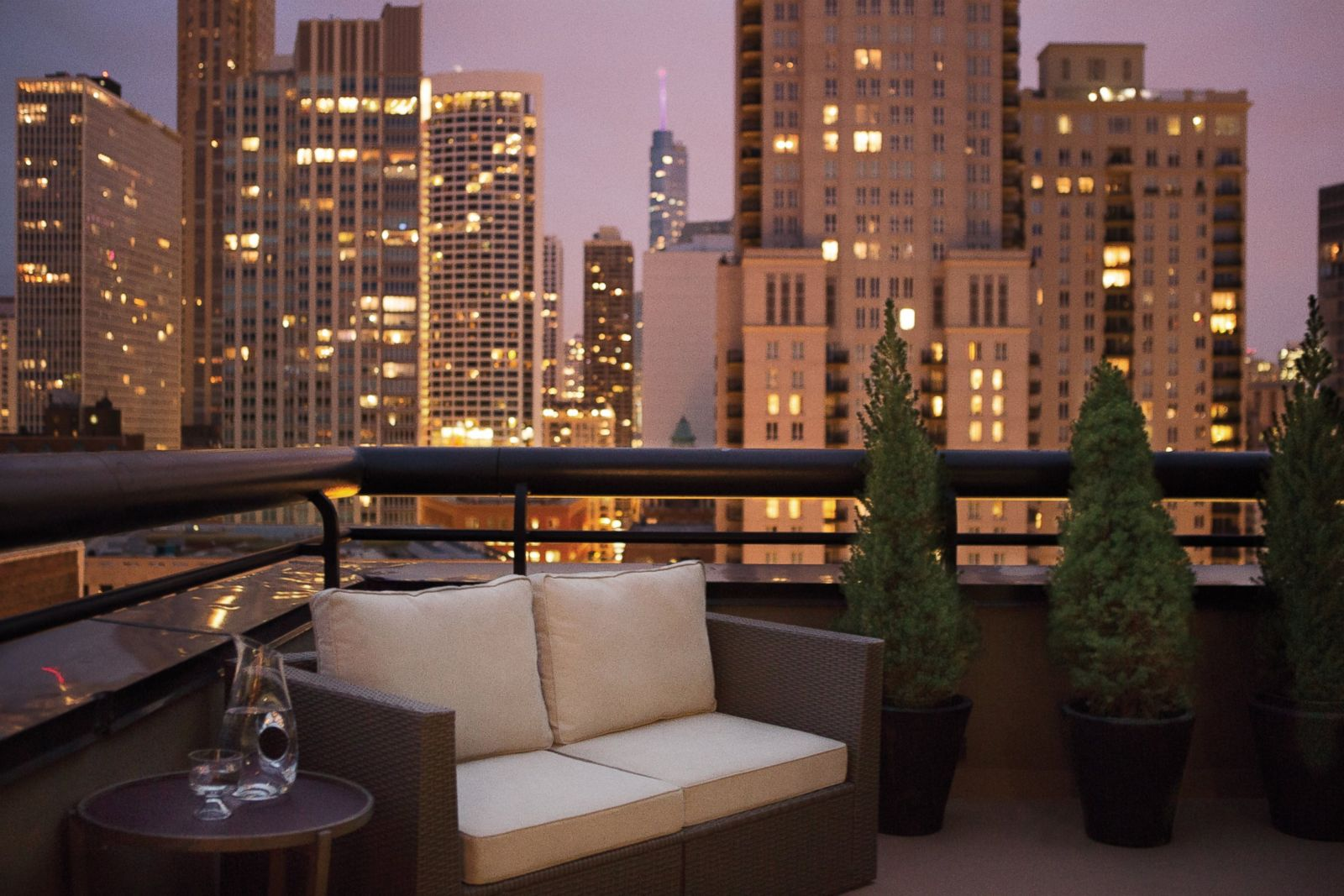 Hotel suite of the week penthouse suite at the thompson for What is a hotel terrace