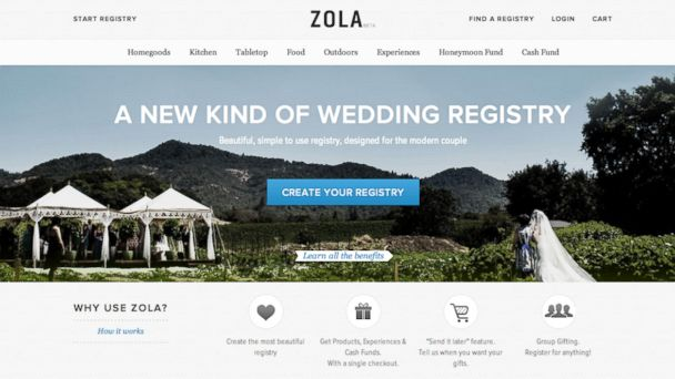 PHOTO: Zola.com is an online resource that streamlines the wedding planning process for the modern bride.