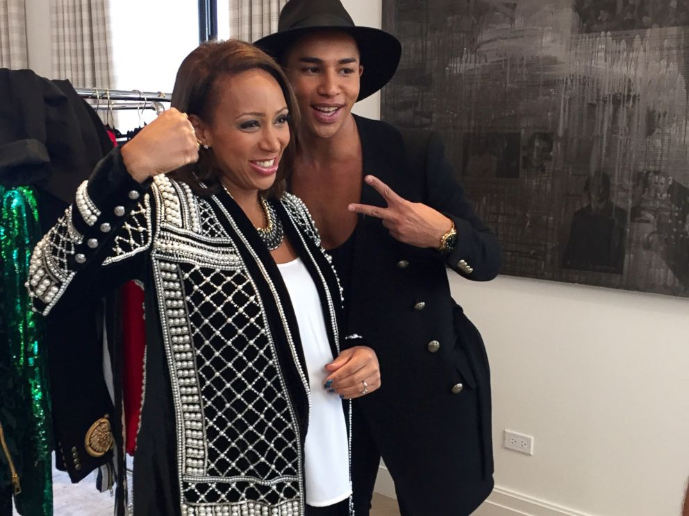 PHOTO: Balmain creative director Olivier Rousteing spoke to ABC News Mara Schiavocampo about his much-anticipated collaboration with H&M.